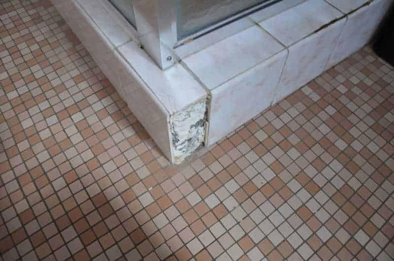 Asbestos under tiles